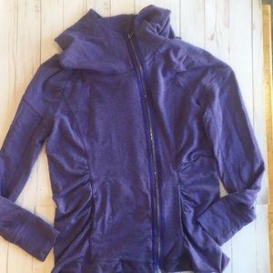 Zella Purple Fleece Hoodie Size Large